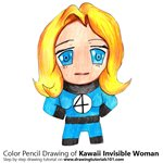 How to Draw Kawaii Invisible Woman