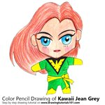 How to Draw Kawaii Jean Grey
