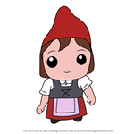 How to Draw Kawaii Juliet From Gnomeo and Juliet
