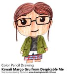 How to Draw Kawaii Margo Gru from Despicable Me