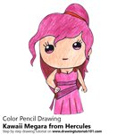 How to Draw Kawaii Megara from Hercules