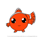 How to Draw Kawaii Nemo from Finding Dory
