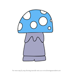 How to Draw Kawaii Shroom from Gnomeo and Juliet