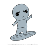 How to Draw Kawaii Silver Surfer