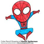 How to Draw Kawaii Spiderman