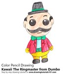 How to Draw Kawaii The Ringmaster from Dumbo