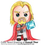 How to Draw Kawaii Thor