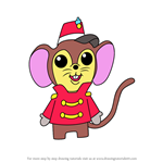 How to Draw Kawaii Timothy Q. Mouse from Dumbo