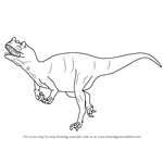 How to Draw a Ceratosaurus