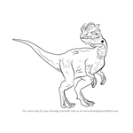 How to Draw a Dilophosaurus