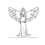 How to Draw an Angel with Sword