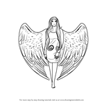 How to Draw an Angel with Wings
