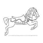 How to Draw Carousel Horse