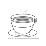 How to Draw a Cup with Saucer