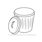 How to Draw Garbage Bin