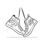 How to Draw Hanging Shoes