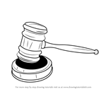 How to Draw Judges Gavel