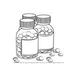 How to Draw Medicine Bottles