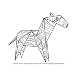 How to Draw an Origami Zebra