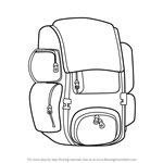 How to Draw Travel Bag Easy