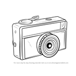 How to Draw a Vintage Camera