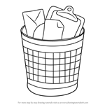 How to Draw Wastebasket