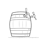 How to Draw Wooden Beer Keg