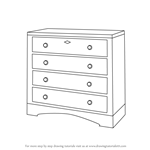 How to Draw a Chest of Drawers