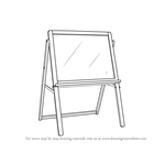 How to Draw Drawing Board Standing