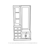 How to Draw Dressing Table