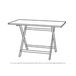 How to Draw a Folding Table