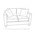 How to Draw Love Seats (Sofa)