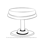 How to Draw a Round Stool
