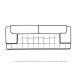 How to Draw Sofa Couch Top View