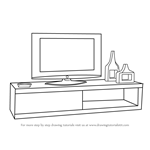 How to Draw TV Unit