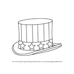 How to Draw Uncle Sam's Hat