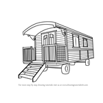 How to Draw a Caravan House