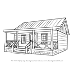 How to Draw a Wood Cabin