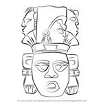 How to Draw Indian Mayan Aztec Mask