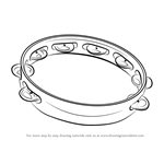 How to Draw Tambourine