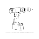 How to Draw a Drill Machine