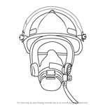 How to Draw Firefighter Mask