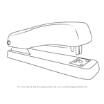 How to Draw a Stapler