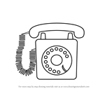 How to Draw a Classic Telephone