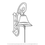 How to Draw Vintage Door Bell