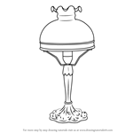 How to Draw Vintage Lamp v2