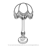 How to Draw Vintage Lamp
