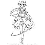 How to Draw AKAZA from Vocaloid