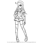 How to Draw Anri Rune from Vocaloid