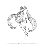 How to Draw Hatsune Miku from Vocaloid
